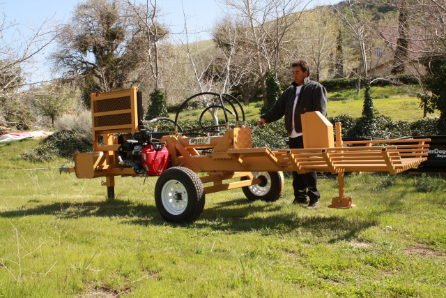 Big Boy log splitter commercial wood splitters with hydraulic cylinders