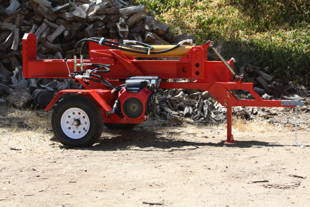 Big red Log Splitter www.splitez.com