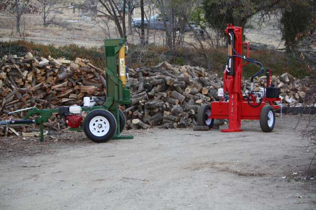 Vertical  wood splitter built by splitez log splitters