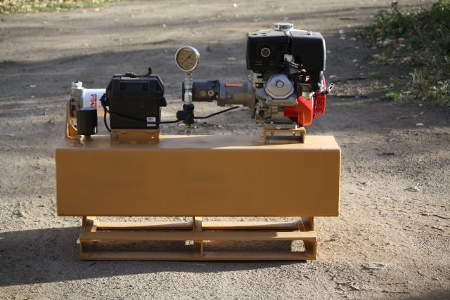 22 GPM pump Honda 390 GX  Electrical start gas engine hydraulic power unit portable