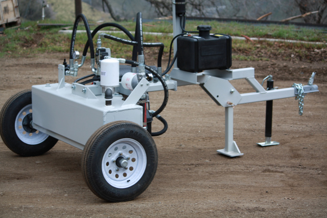 Trailer mounted hydraulic portable power unit