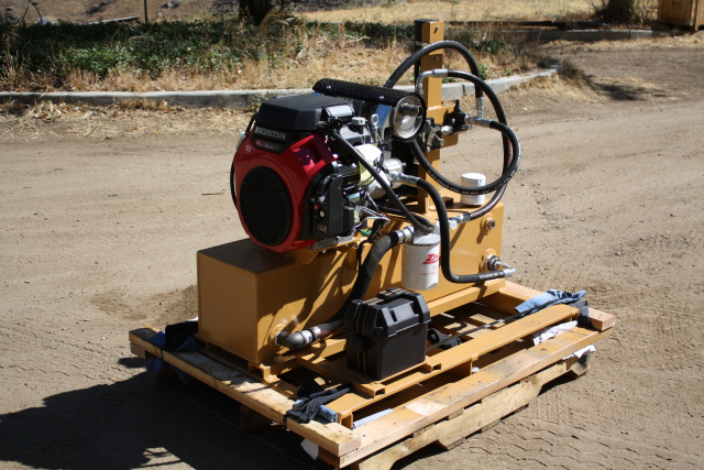 690 HYDRAULIC POWER PACK UNIT PORTABLE SKID MOUNT gas or diesel units